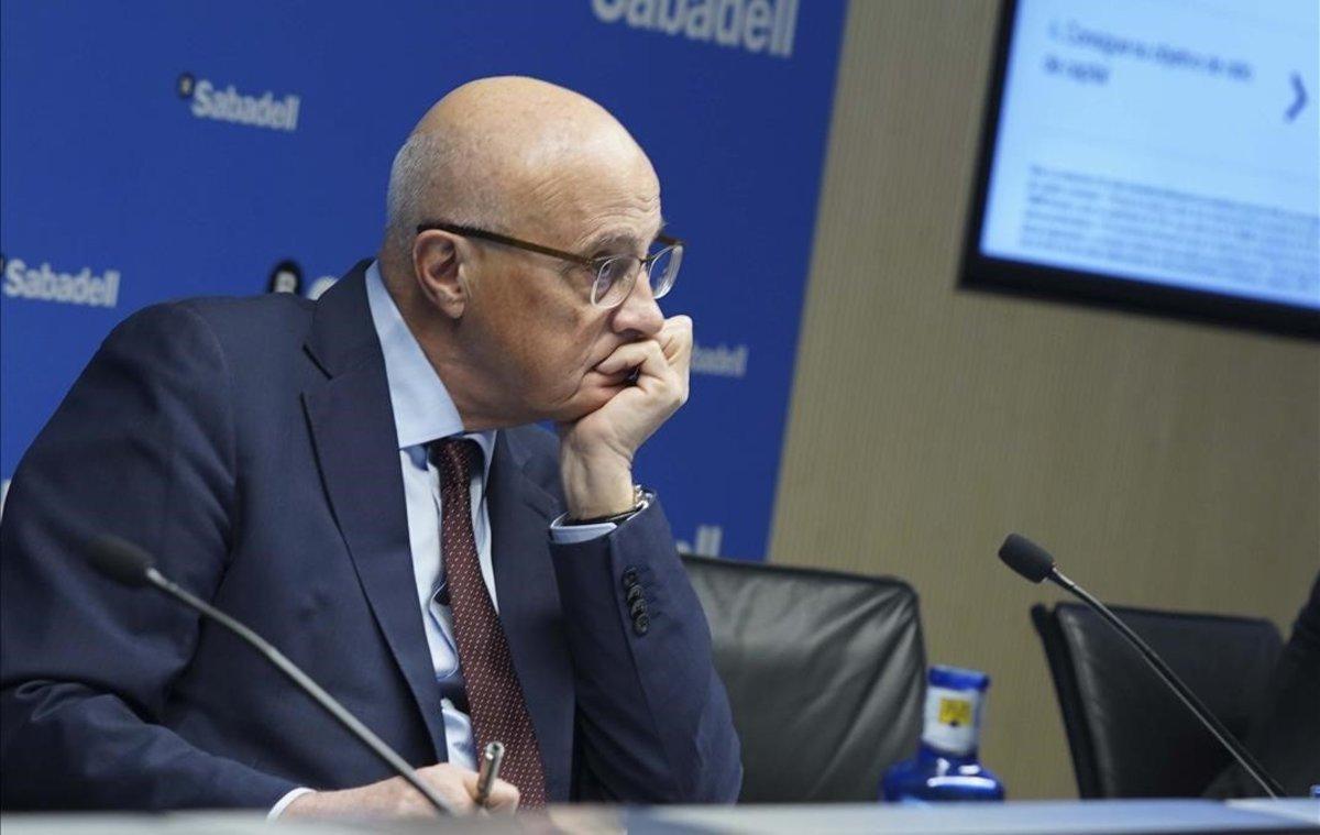 JosepOliu durante la presentación de resultados del 2019 en Madrid.