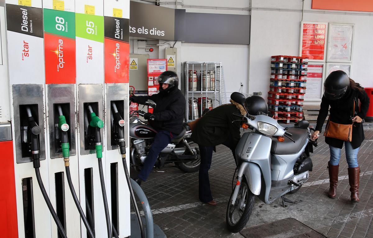 Gasolinera de Barcelona.