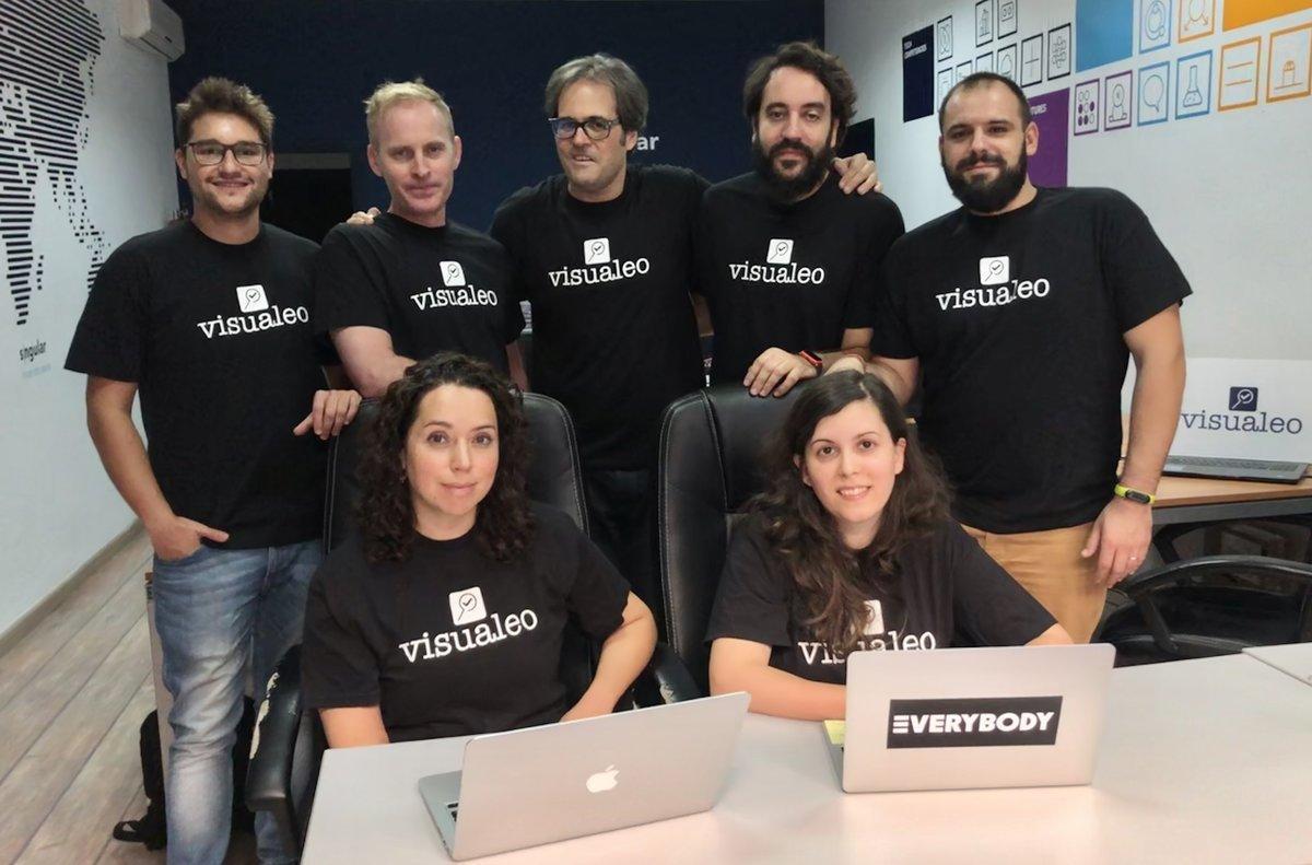 El equipo de la startup Visualeo al completo.