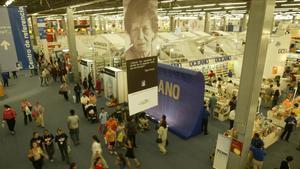 Vista general de una edición de la Feria del libro de Guadalajara.