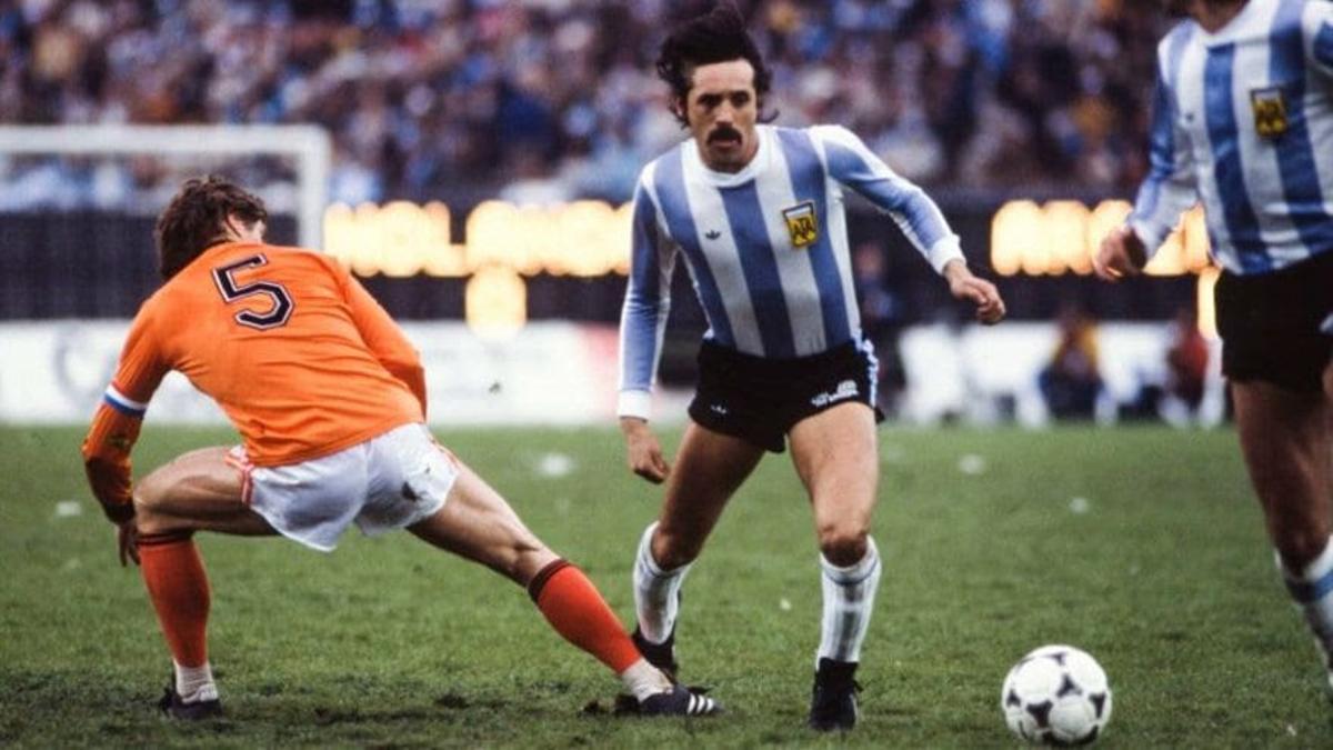 Leopoldo Luque, durante la final del Mundial 1978 ante Holanda.