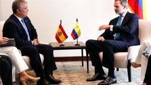 Iván Duquese reúne con el rey Felipe VI de España.