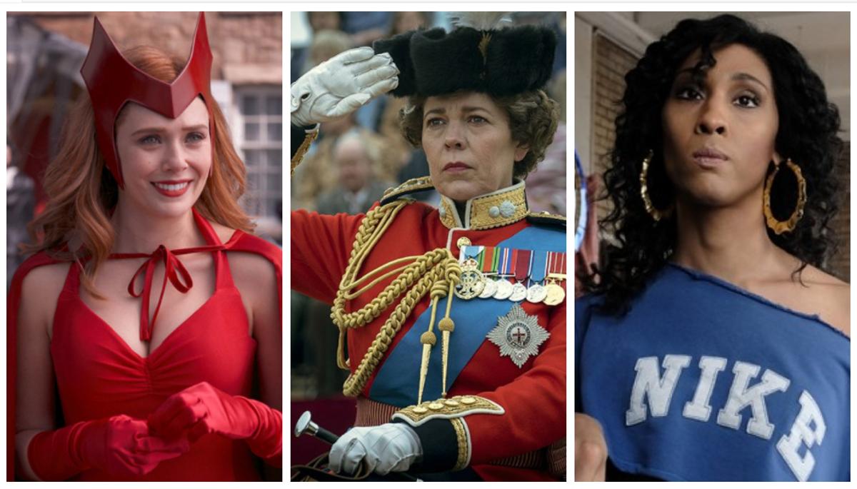 Fotogramas de 'Bruja Escarlata y Visión', 'The Crown' y 'Pose'