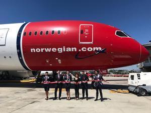 Un avión de Norwegian Airlines en una imagen de archivo.