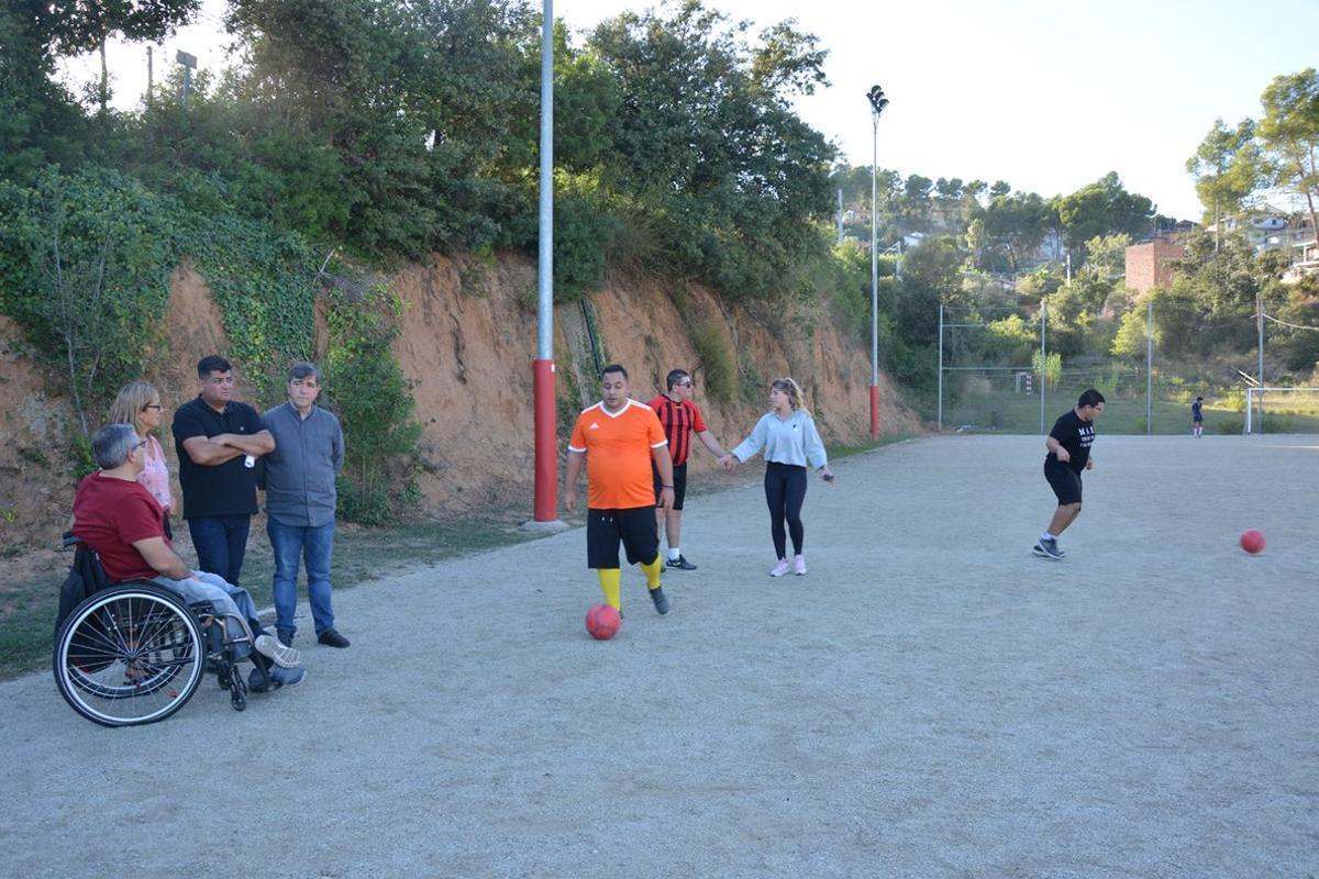 Los entrenamientos del equipo se realizan en la zona deportiva de Can Mir.