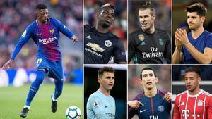 Dembelé, Pogba, Bale, Morata, Laporte,Di María y Tolisso, fichajes millonarios suplentes en la ida de los octavos de la Champions.