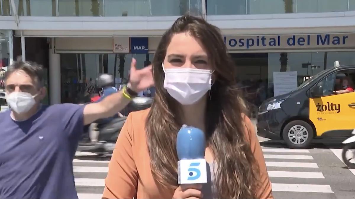 La reportera de 'Informativos Telecinco' Elena Gómez