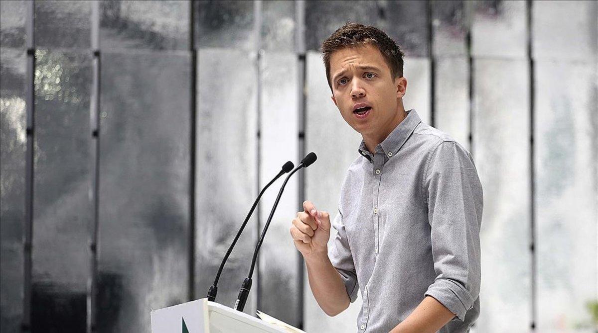 El candidato de Más País, Íñigo Errejón, en el acto de presentanción de sus listas el pasado martes