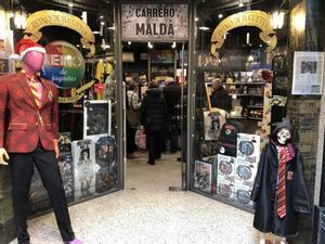Entrada de la primera tienda de las galerías dedicada a Harry Potter.