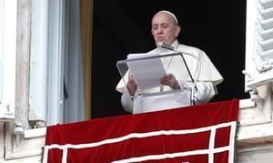 El papa Francisco, esta mañana, en el Vaticano.