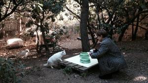 Imagen de archivo de Yolanda Van Amersfoot en una de las colonias del distrito de Gràcia