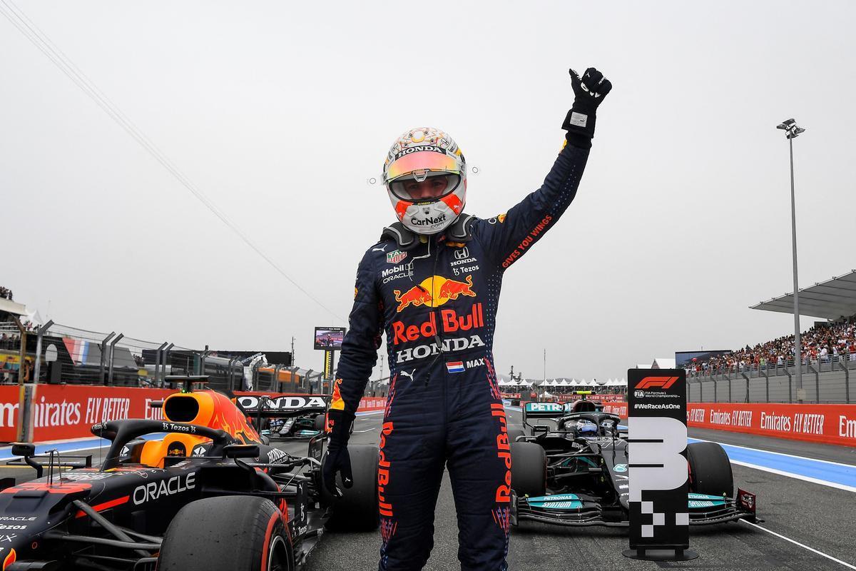 Max Verstappen (Red Bull) gana el GP de Francia en el circuito de Paul Ricard.