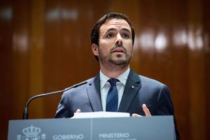 El ministro de Consumo, Alberto Garzón, durante la toma de posesión de su cargo.