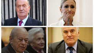 El rey Juan Carlos, Cristina Cifuentes, Jordi Pujol y Luis Bárcenas
