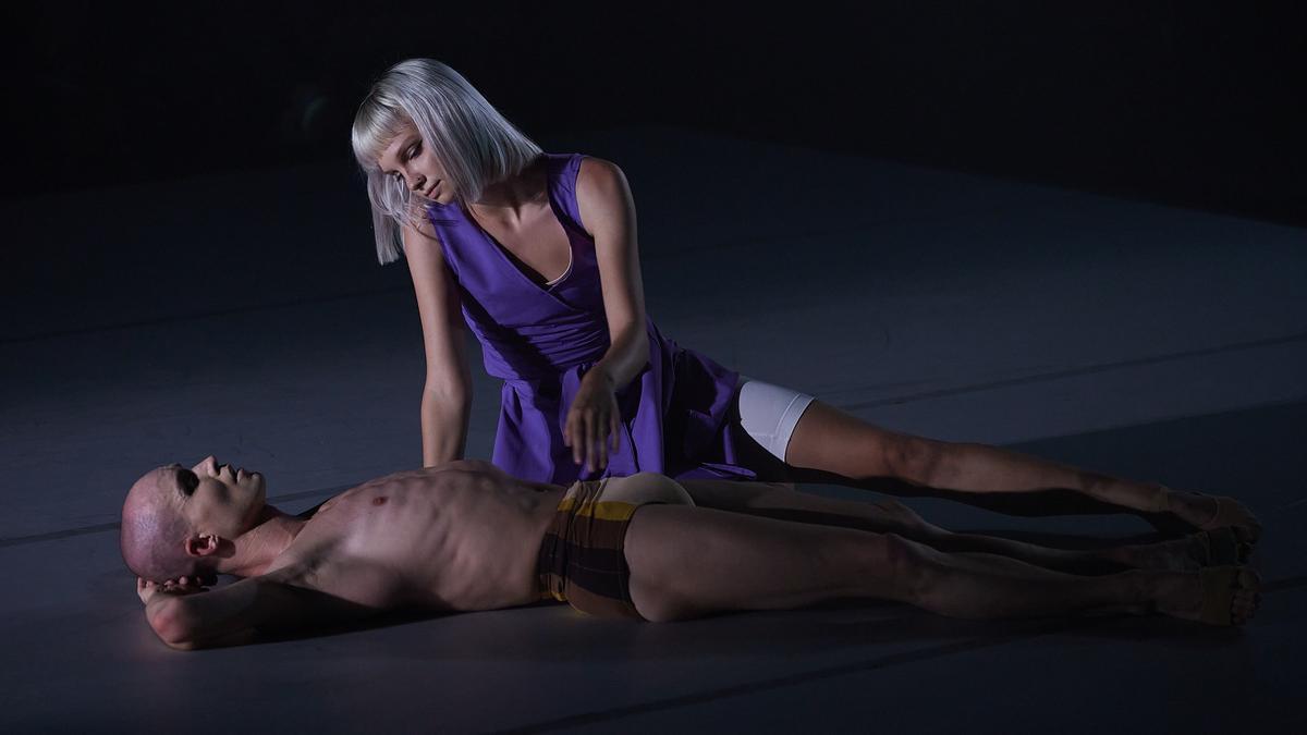 Momento de la representación de 'Perspectives', del Ballet de Barcelona, en Peralada