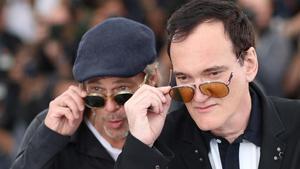 Brad Pitt y Tarantino, este miércoles en Cannes.