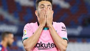 Jordi Alba lamenta una ocasión de gol.