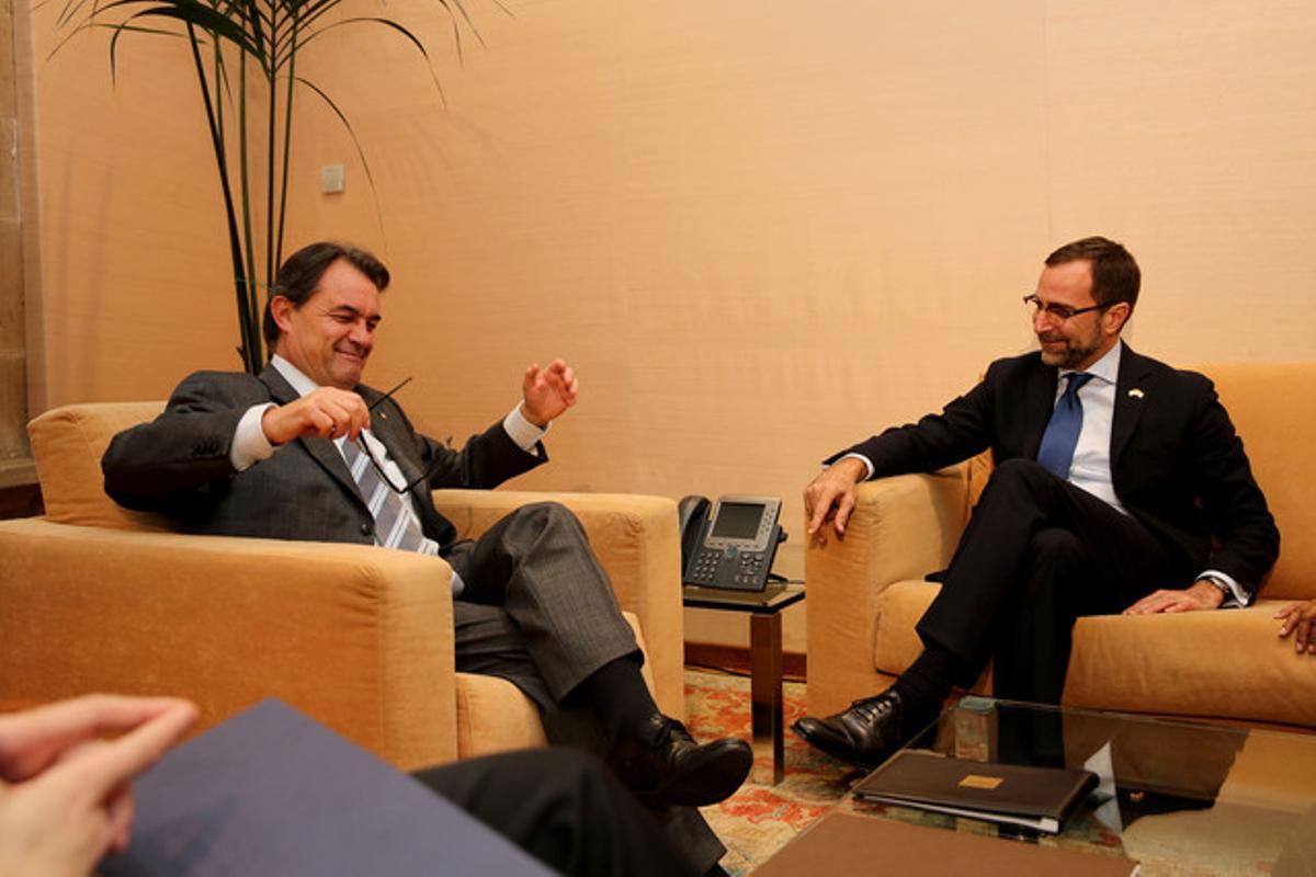Artur Mas y James Costos, el año pasado.