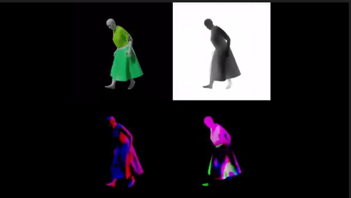 Vídeo del simulador de ropa CLOTH3D.