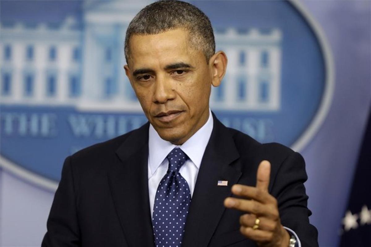 El presidente Obama, en una conferencia de prensa en la Casa Blanca ayer, viernes.