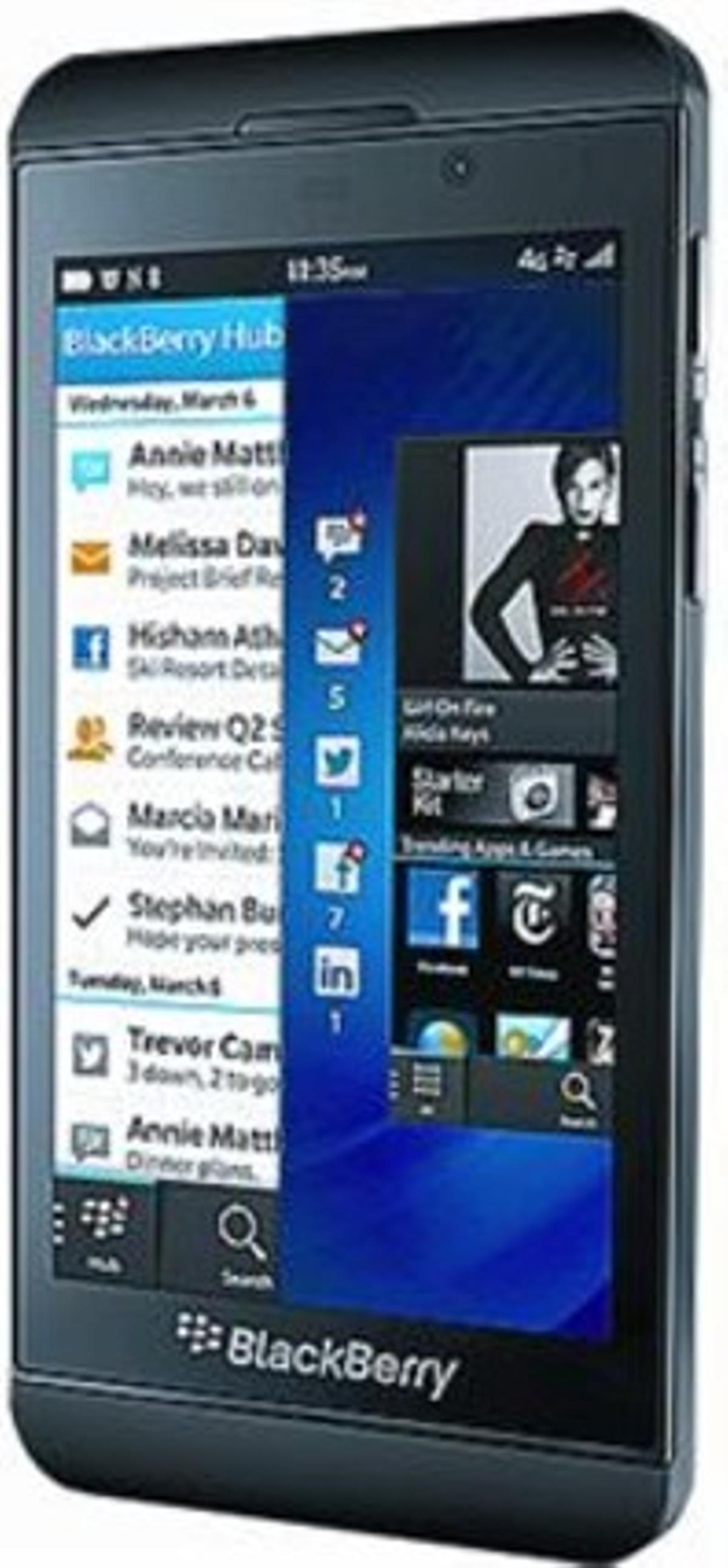 Z10 3 Blackberry, 'smartphone' táctil con NFC, para los pagos con móvil, capacitado para funcionar en redes 4G LTE.