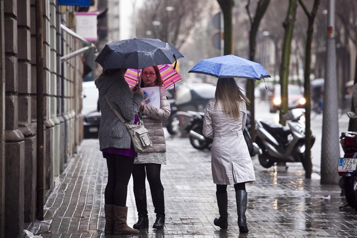 Día de lluvia en Barcelona, el pasado marzo.