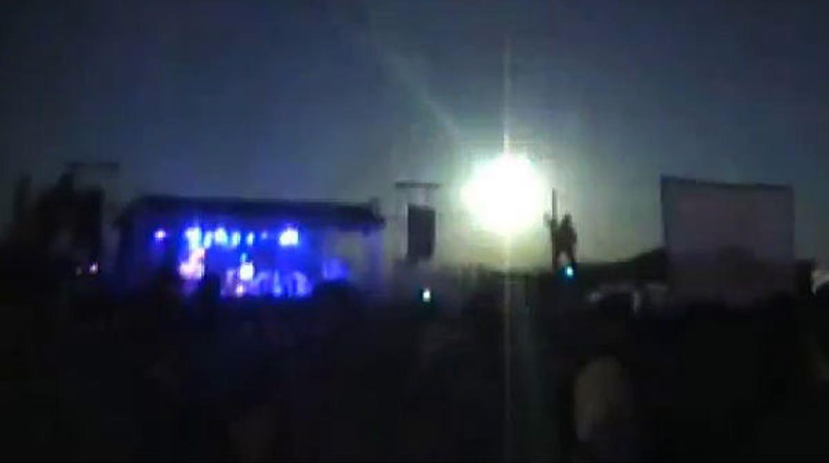 La caída del meteorito ha sorprendido a los asistentes a un concierto en Salta, Argentina.