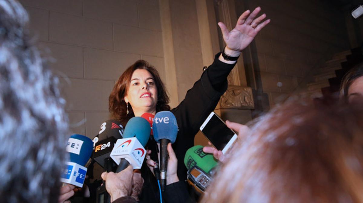 Junqueras asegura que ha transmitido a la vicepresidenta la voluntad de convocarlo, aún sin el permiso del Estado.