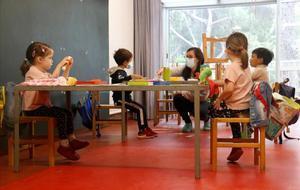 Alumnos de infantil en una escuela.