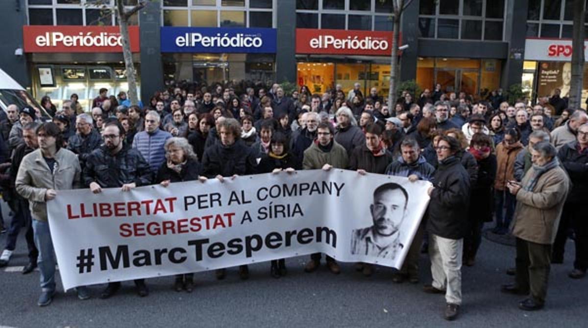 Concentracion de apoyo a Marc Marginedas