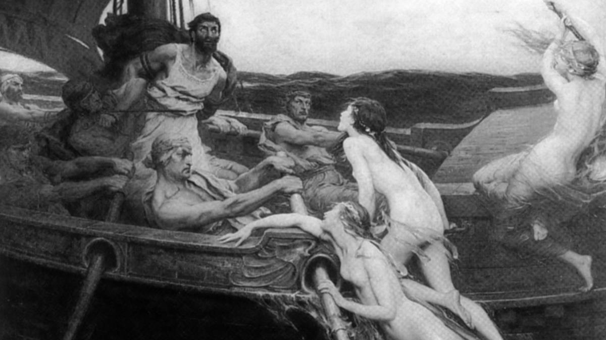 Ulises y las sirenas, obra de Herbert Draper, reproducida en el libro 'Mujeres en el mar', de David Cordingly.
