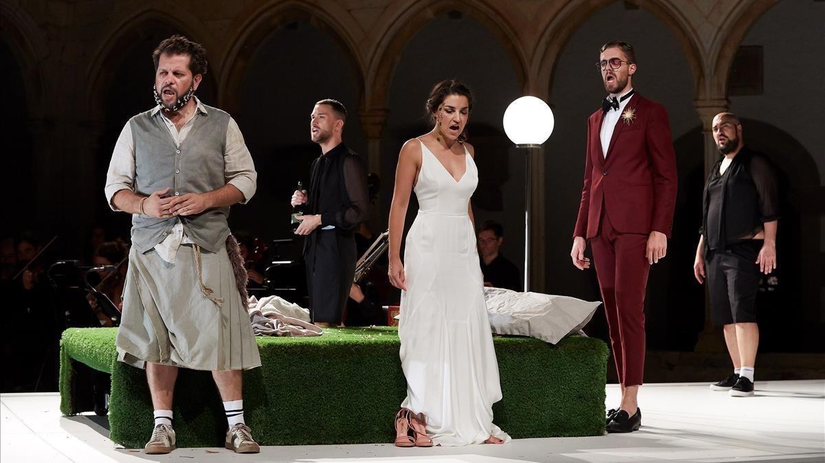 Un momento de la representación de la ópera 'Acis y Galatea'