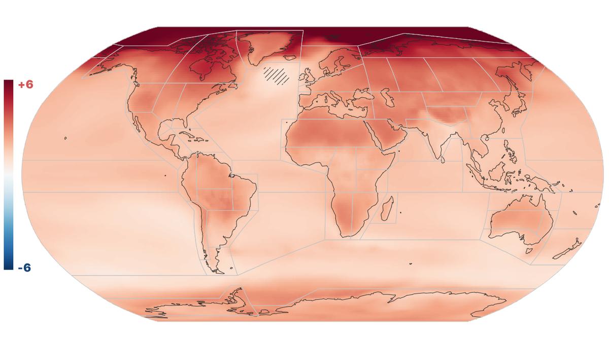 Visualización de los efectos de la crisis climática elaborada por científicos españoles del CSIC para el último informe del IPCC.