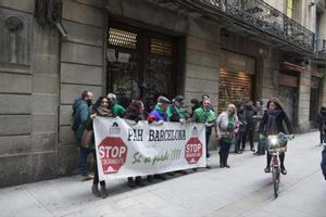 Concentración contra un desahucio en Barcelona.