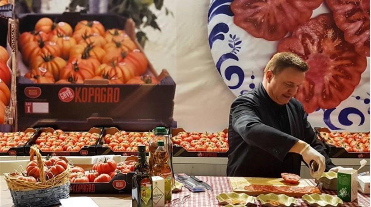 El estand del tomate Monterosa en Alimentaria.