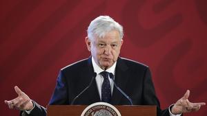 El presidente de MexicoAndres Manuel Lopez Obrador habla en rueda de prensaen el Palacio Nacionalen Ciudad de MexicoEFE Jose Mendez