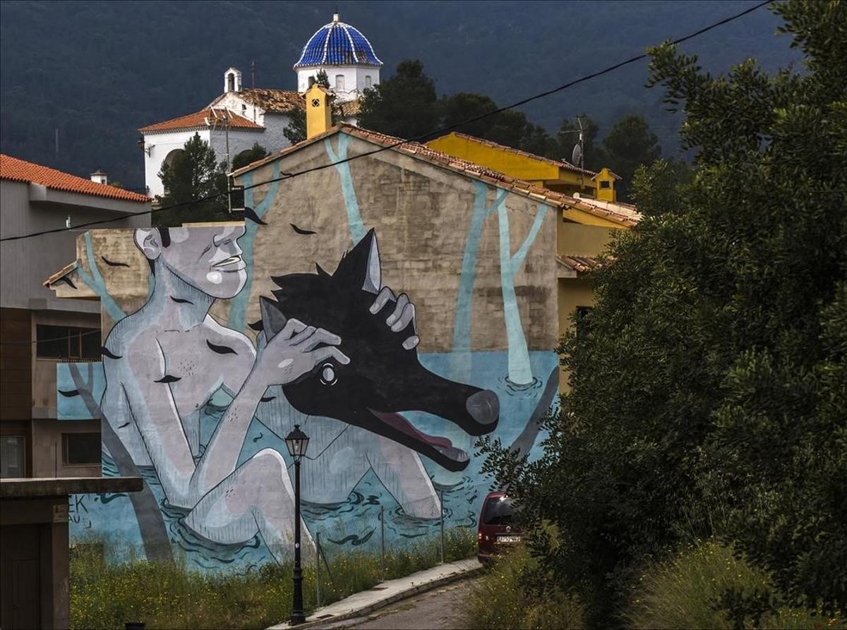 Grafitis contra un vertedero