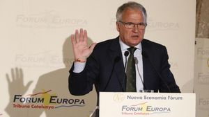 Josep Bou, en el 'Fòrum Europa. Tribuna Catalunya', este jueves.