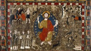 El frontal del románico catalán expuesto en EEUU, obra de Raimundus, según investigadores de la UAB.