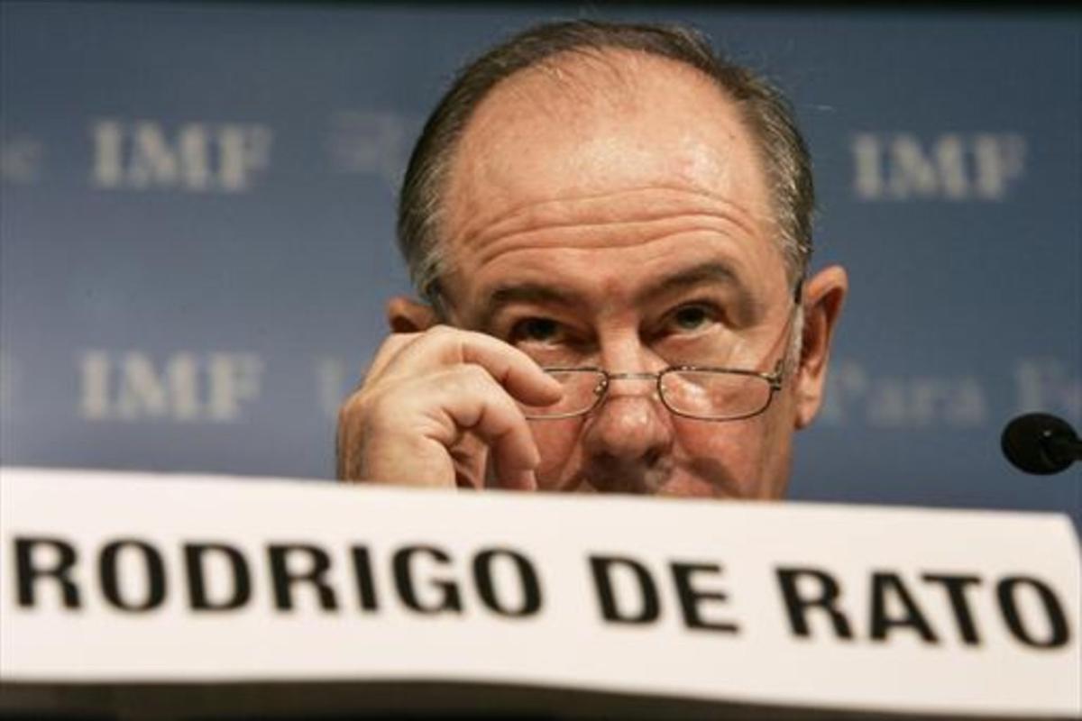 Rodrigo Rato, en el 2007, cuando era director del Fondo Monetario Internacional (FMI).