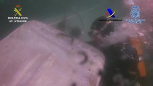 Narcosubmarino interceptado por la Guardia Civil en la costa de Morrazo (Pontevedra) en la madrugada del 27 de noviembre.
