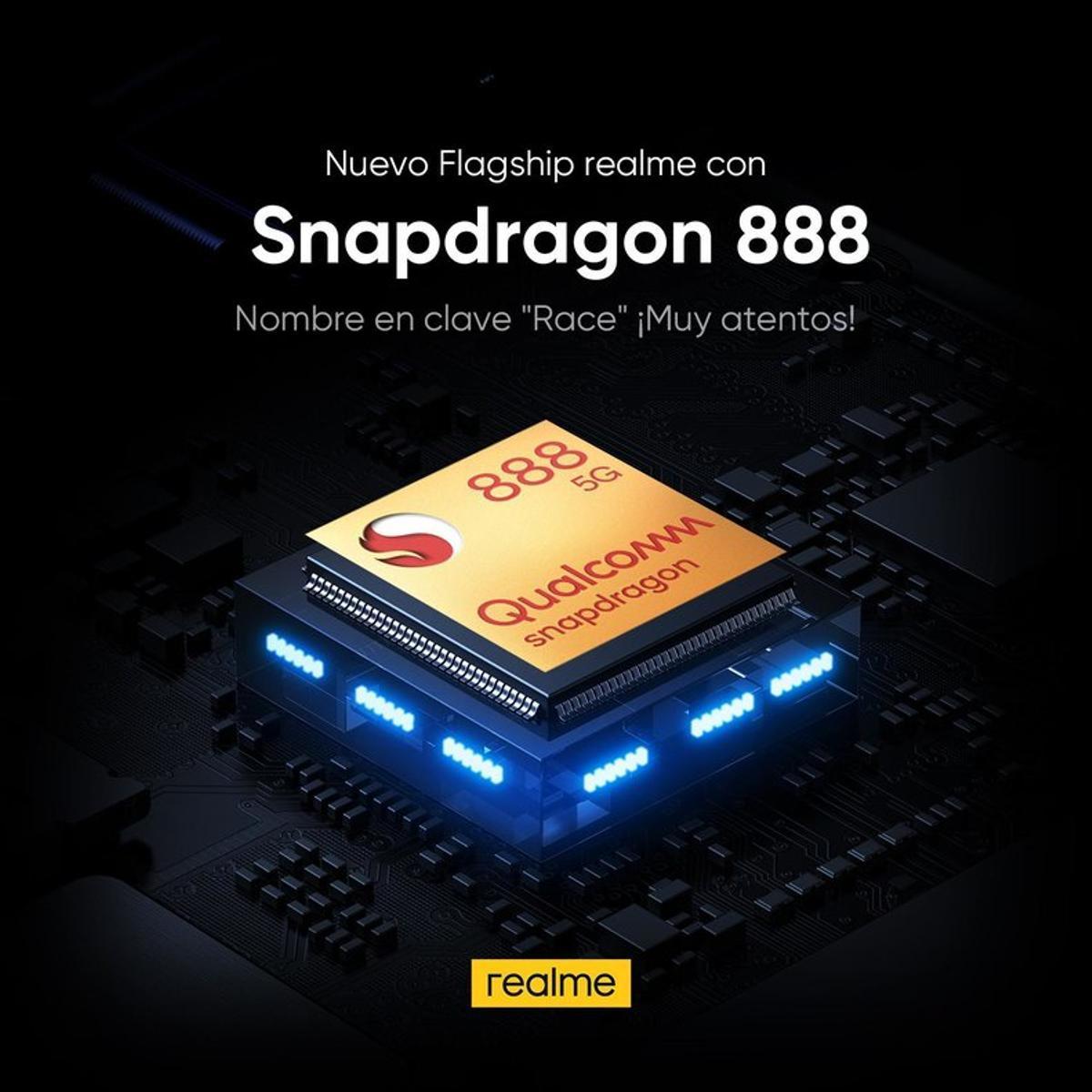 Procesador Snapdragon 888 5G.