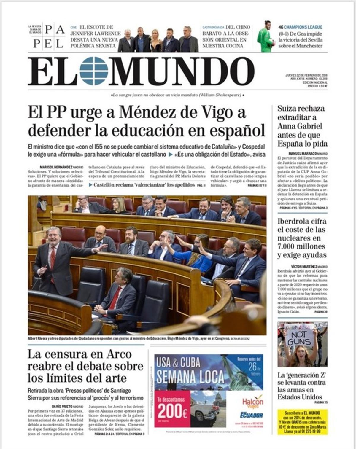La deriva autoritaria de censura y cárcel de España alarma al quiosco