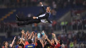 Final de la Liga de campeones entre el FC Barcelona y el Manchester United en el Olímpico de Roma