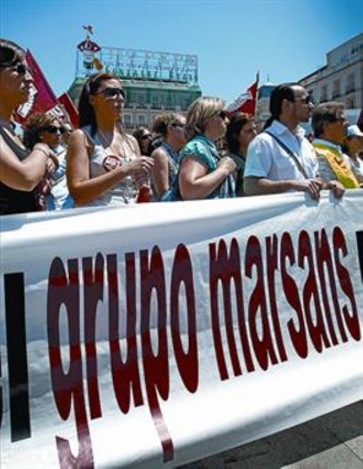 Protesta de los trabajadores de Viajes Marsans el pasado 22 de mayo.