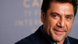 Javier Bardem, en la rueda de prensa de presentación de 'Todos lo saben', en Cannes.