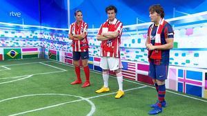 Los chefs disfrazados de futbolistas.