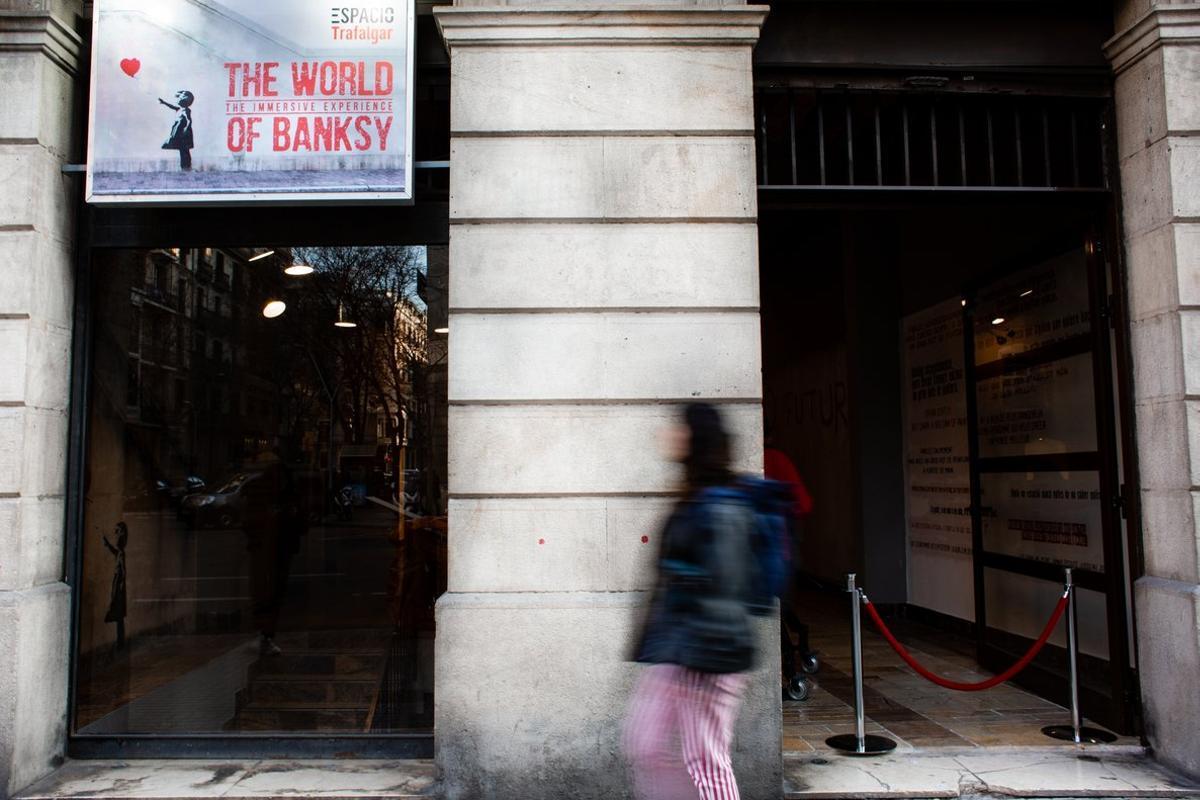 Entrada dela exposición 'The world of Banksy'.