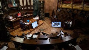 Pleno del pasado 24 de julio, en el que los gruposmunicipales reclamaron por unanimidad disponer de su superávit y sus remanentes de tesorería.