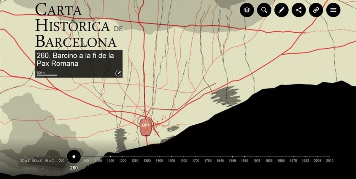 El Muhba explica la historia de Barcelona a través de 26 cartografías interactivas